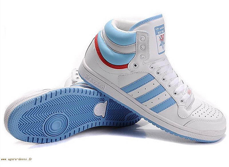 Bleu Homme Adidas Chaussures Blanche Top Ten Mid UK j7UnuO 53f993abeaf7