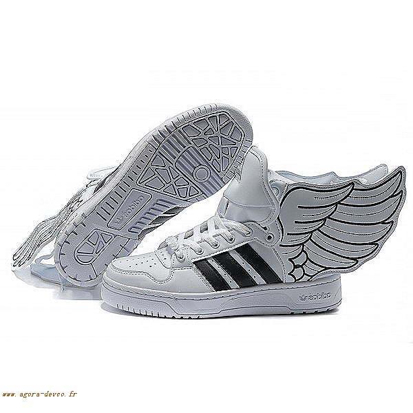 buy online 2ef4d 786a8 Homme Adidas Chaussure Noir Blanche Originals Jeremy Scott 2.0 WSG-S ZuzMF7