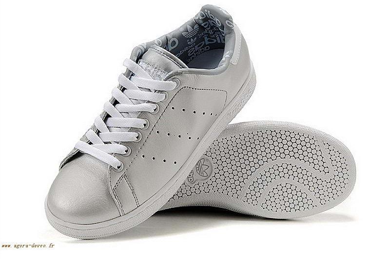 Chaussure Homme Argenté Blanche Jzkoc7wqq Look Adidas Stan Smith lFK1Jc