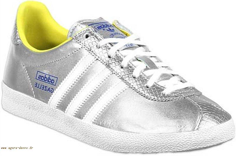 Homme Chaussure Adidas Pkw Gazelle Blanche Originals Argenté Ok9l PwO08nk