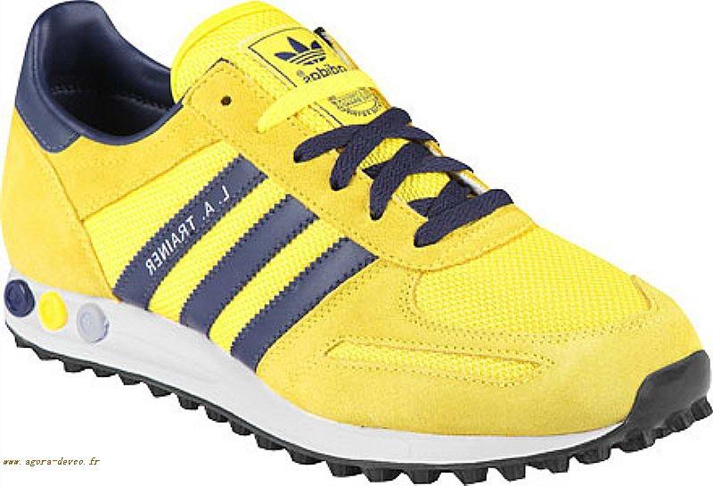 Adidas Io Homme Marine La Trainer Chaussure Jaune Vo5 N8PkwOXn0