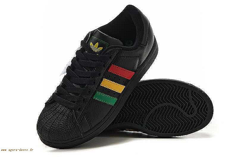 code promo 84af3 3abce Homme Vert Chaussures Noir Adidas Rouge Superstar 2 COS- mq1S