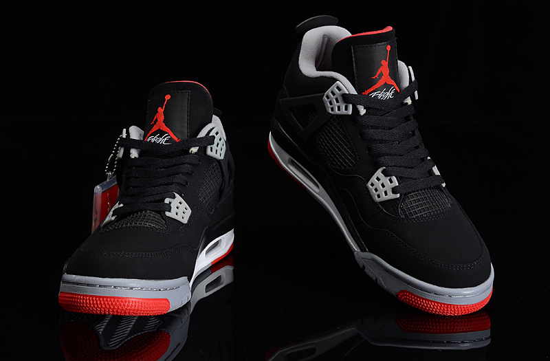 Air Jodan Rouge Jordan homme Noir Gris Et Nike 9otg 4 Xrydhf FJK1lc
