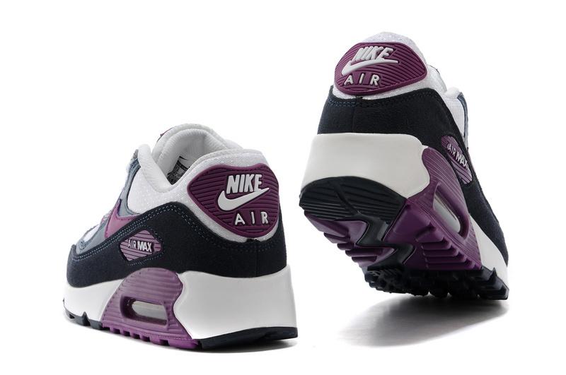acheter populaire e0fc4 5106d solde air max 90,nike air max 90 blanche et noir et violet ...